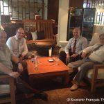 Claude Jaeck / Délégué Général Chine. Bernard Desvignes / Comité Bangkok. Pierre Barbier / Trésorier. Comité Pattaya. Roger Abensour / Délégué Général Thaïlande.