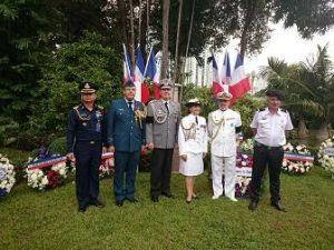 Les représentants des missions militaires alliées